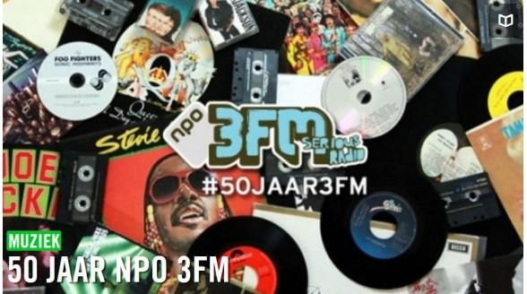 NPO 3 in teken vijftigjarig bestaan 3FM