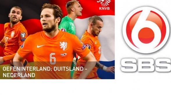 Oefeninterland Nederlands elftal tegen Duitsland op SBS6