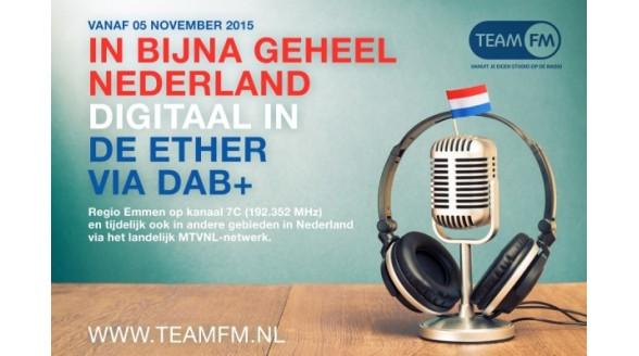 'Piratenzender' TEAM FM via DAB+ te beluisteren