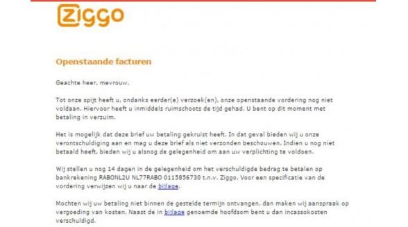 Problemen met gebruikerspagina Mijn Ziggo nog niet opgelost