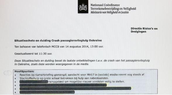 RTL Nieuws wil meer openheid kabinet inzake MH17