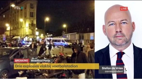 RTL Z breaking news-zender na terreuraanslagen Parijs