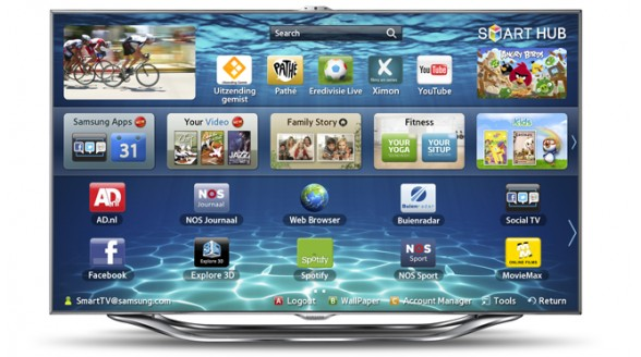 Samsung plaatst advertenties op Smart TV-platform