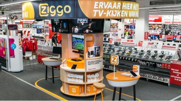 Ziggo opent tientallen shops bij de Mediamarkt