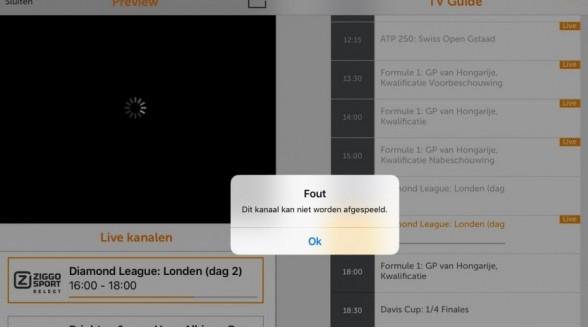 Ziggo Sport app bezwijkt door Max Verstappen