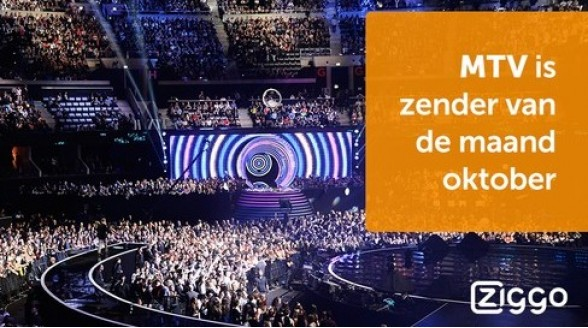 Ziggo zet MTV Live in etalage tijdens MTV Music Awards